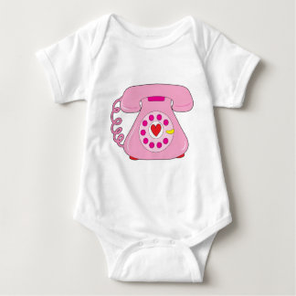 Heart Telephone Baby Bodysuit