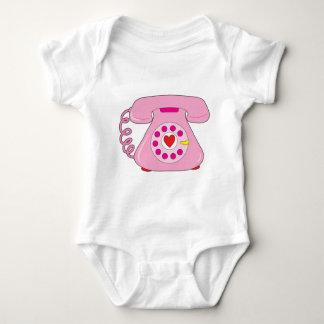 Heart Telephone Baby Bodysuit