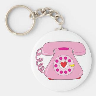 Heart Telephone Keychain