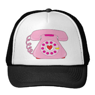 Heart Telephone Trucker Hat