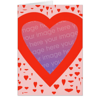 Heart Template Greeting Card - 1
