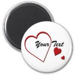 Heart Template Magnet 2 Inch Round Magnet