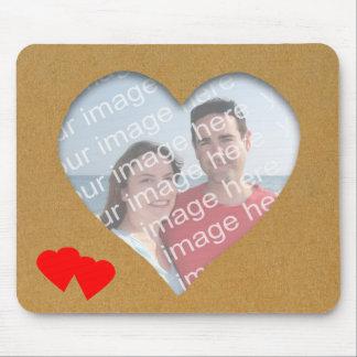 Heart Template Photo Frame Mousepad