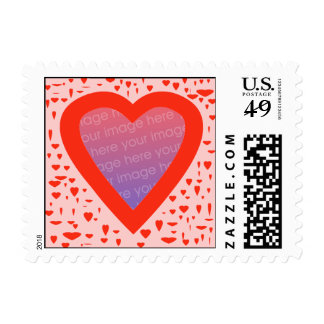 Heart Template Photo Stamp