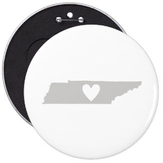 Heart Tennessee state silhouette Pins