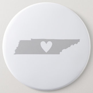Heart Tennessee state silhouette Pinback Button