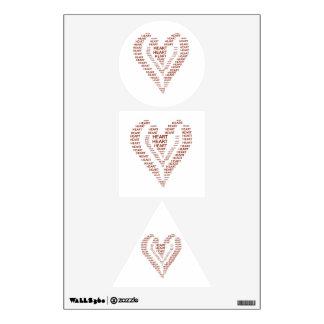 Heart text wall sticker