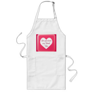 heart Thank You apron