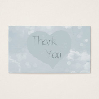 Heart thank you business card