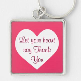 heart Thank You keychain