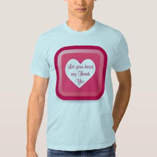 heart Thank You mens shirt