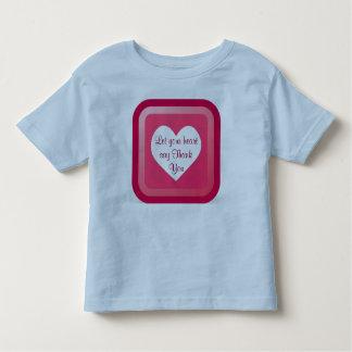 heart Thank You toddler shirt