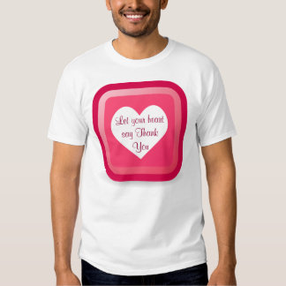 heart Thank You womens shirt