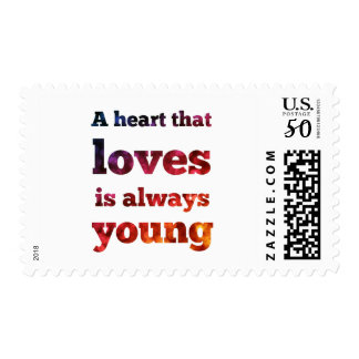 Heart That Loves Always Young Bokeh Postage Stamp