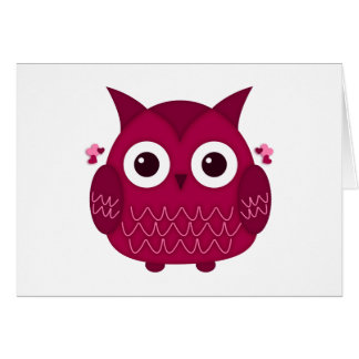 Heart the Pink Owl Card