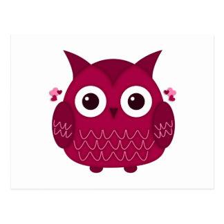 Heart the Pink Owl Postcard