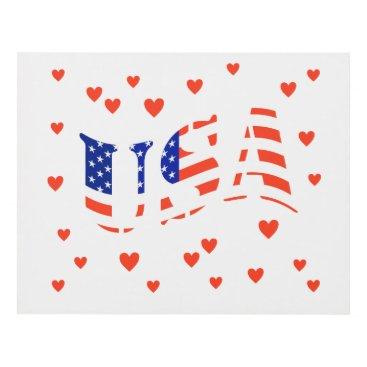 USA Themed Heart the USA wall panel