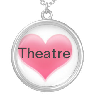 Heart  Theatre Round Pendant Necklace