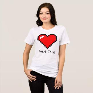 Heart Thief 8 Bit Pixel Art - Funny Geeky Gamer T-Shirt