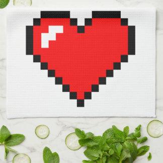 Heart Thief 8 Bit Pixel Art - Funny Geeky Gamer Towel