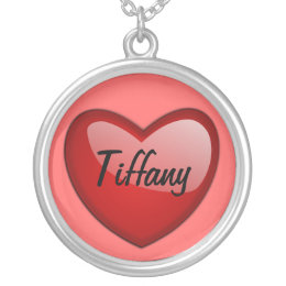 Heart, Tiffany Silver Plated Necklace