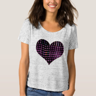 Heart Tilted Plaid Graphic Tee