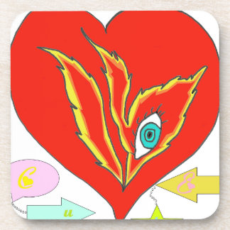 HEART TO BELONG TO MY VIE.png Beverage Coaster