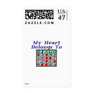 Heart To Bingo Postage
