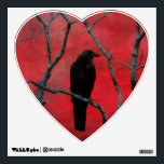 """Heart To Crow Wall Sticker<br><div class=""""desc"""">Crow in red wall decal.</div>"""