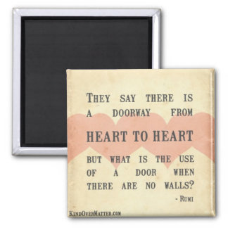Heart to Heart 2 Inch Square Magnet