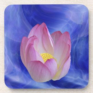 Heart to heart lotus flower drink coaster
