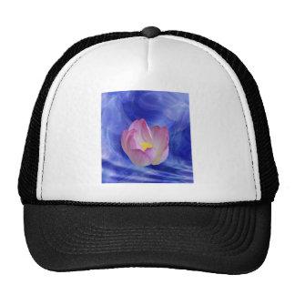 Heart to heart lotus flower trucker hat