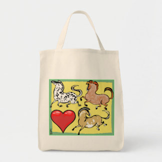 Heart to Heart Pony Grocery Tote Bag