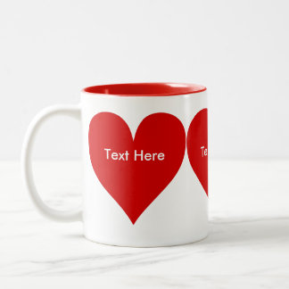 Heart to Heart Two-Tone Coffee Mug