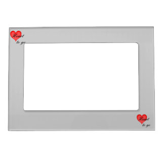 heart tons go black magnetic picture frame