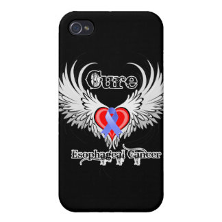 Heart Too Wings - Cure Esophageal Cancer iPhone 4 Cases