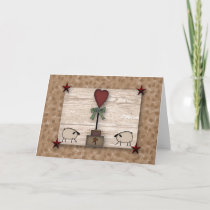 Heart Topiary Note Card