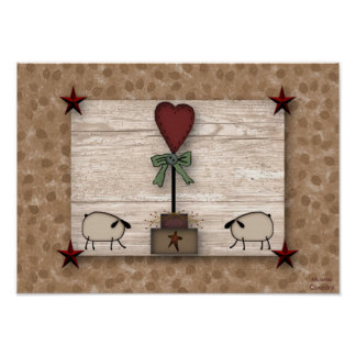 Heart Topiary Poster