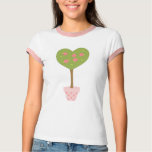 Heart Topiary with Pink Roses T-Shirt