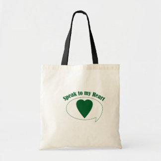 Heart tote bag budget tote bag