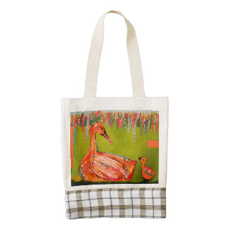 Heart Tote Bag with Cute Ducks