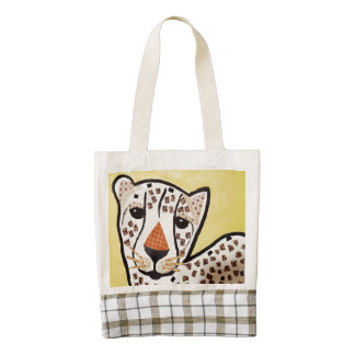 Heart Tote Bag with Cute Tiger Cub