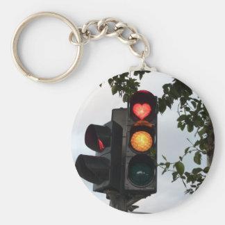 Heart traffic light keychain