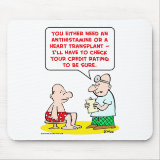 heart transplant credit rating mouse pad