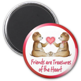 Heart Treasures 2 Inch Round Magnet