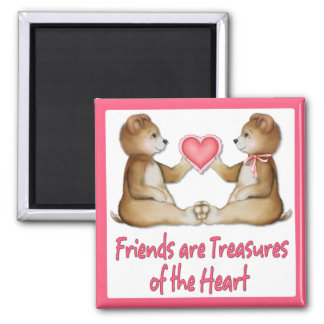 Heart Treasures 2 Inch Square Magnet