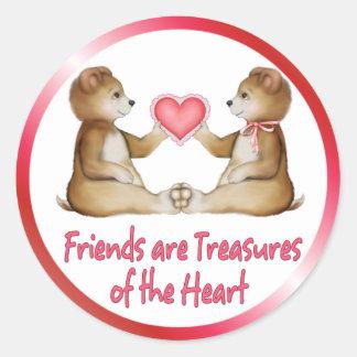 Heart Treasures Classic Round Sticker