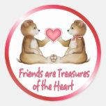 Heart Treasures Round Sticker