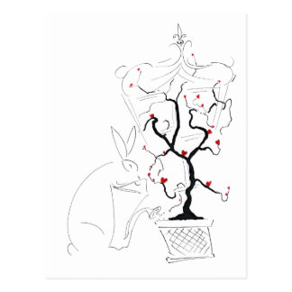 heart tree1 postcard