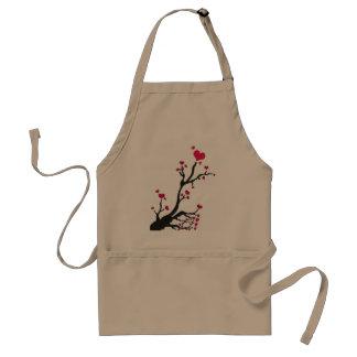 heart tree black adult apron